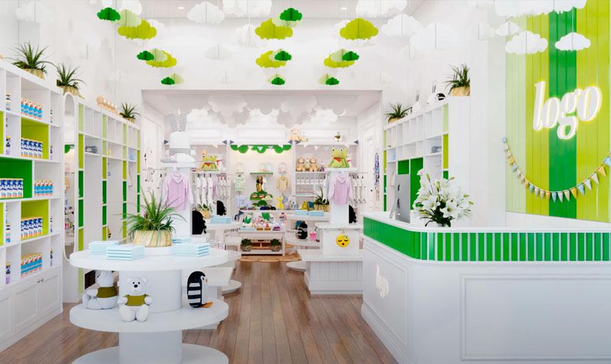Магазин детской одежды. Идея оформления торгового зала