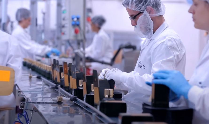 Производственная линия на парфюмерном заводе MIXER