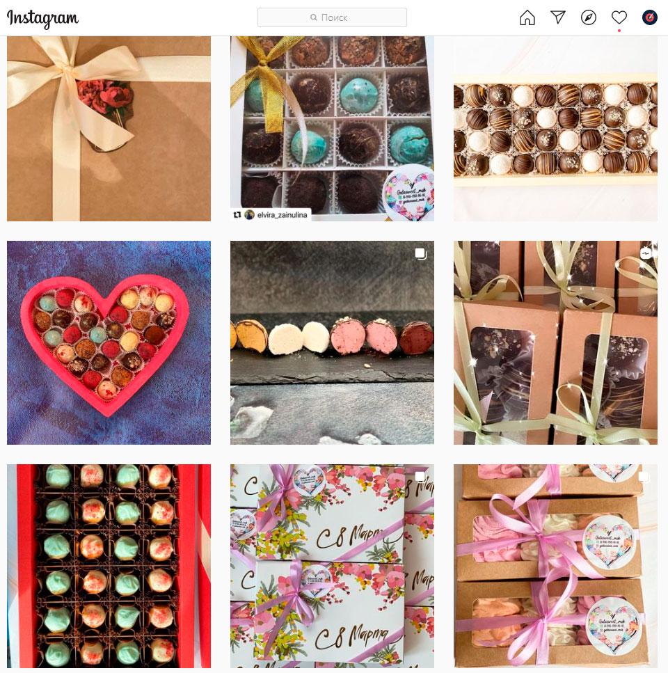 Магазин сладостей ручной работы в Инстаграм